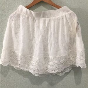 NWT White Lace Skirt Boho Hippie